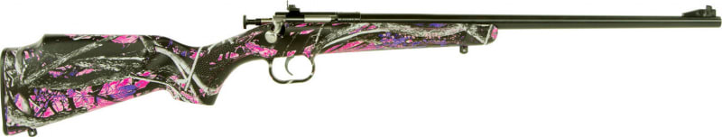 "Crickett KSA2160 Crickett Bolt 22 LR 16.12"" 1 Synthetic Muddy Girl Stock Blued"