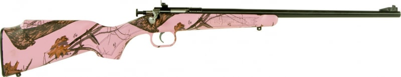 "Crickett KSA2161 Single Shot Bolt 22 LR 16.12"" 1 Synthetic Mossy Oak Pink Blaze Stock Blued"