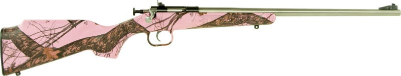 "Crickett KSA2164 Single Shot Bolt 22 LR 16.12"" 1 Synthetic Mossy Oak Pink Blaze Stock Stainless"