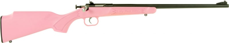 "Crickett KSA2220 Single Shot Bolt 22 LR 16.12"" 1 Synthetic Pink Stock Blued"