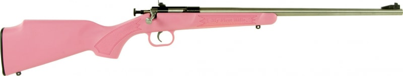 "Crickett KSA2221 Single Shot Bolt 22 LR 16.12"" 1 Synthetic Pink Stock Stainless"