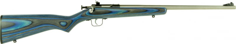 "Crickett KSA2223 Single Shot Laminate Bolt 22 LR 16.125"" 1 Laminate Blue Stock Stainless Steel"