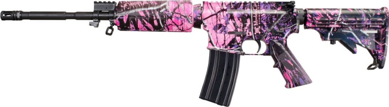 "Windham Weaponry R16M4FTTC4 SRC Semi-Auto .223/5.56 NATO 16"" 30+1 6-Position Muddy Girl Stock Muddy Girl/Black"