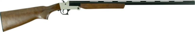 "Hatfield USH12SW SGL Break Open 12GA 28"" 3"" Wood Stock Silver"