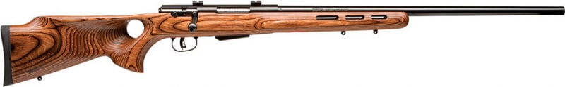"Savage 19142 25 Lightweight Varminter-T Bolt 222 Rem 24"" 4+1 Laminate Thumbhole Brown Stock Blued"