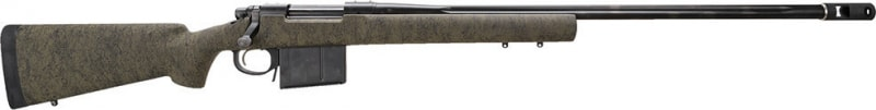 """Remington Firearms 84463 700 XCR Tactical Long-Range with Muzzle Brake Bolt 338 Lapua Magnum 26"""" 5+1 Bell and Carlson Green w/Black Spiderweb Stock Black"""