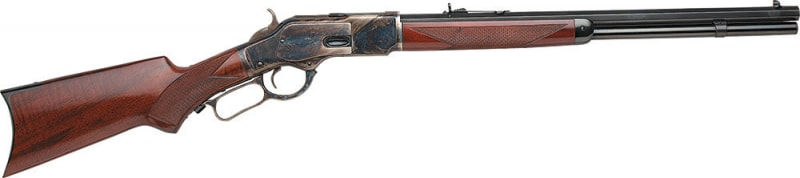 """Taylors and Company 2012 1873 Taylor''s Trapper Lever 357 Magnum 18"""" 10+1 Walnut Pistol Grip Stock Blued Barrel/Color Case Hardened Receive"""