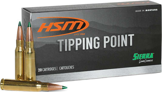 HSM 6CREEDMOOR3N TP 6MM Creedmoor 90 SGK - 20rd Box