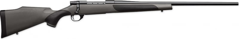 """Weatherby VGT240WR4O Vanguard Series 2 Synthetic Bolt 240 Weatherby Magnum 24"""" 5+1 Synthetic w/Rubber Panels Gray Stock Blued"""