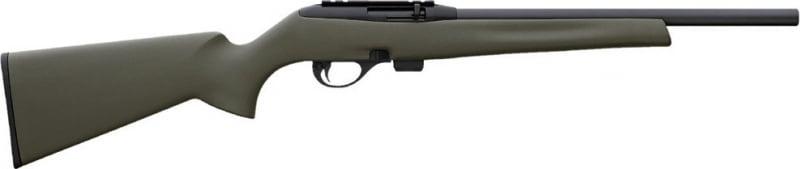 "Remington Firearms 80877 597 Heavy Barrel SA 22 LR 16.5"" 10+1 Synthetic OD Green Stock Blued"