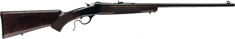 "Winchester Guns 524100102 1885 Hunter Falling Block 22 LR 24"" 1 Walnut Oil Finish Stock Blued High Polish"