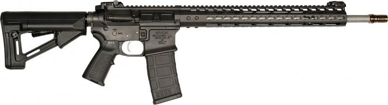 "Noveske 02000087 SPR Gen III Semi-Auto 18"" 30+1 Magpul STR Black Cerakote/Stainless Steel"