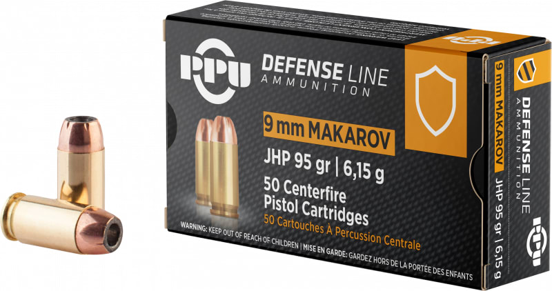 PPU PPD9M 9X18MAK 93 Jacketed Hollow Point - 50rd Box