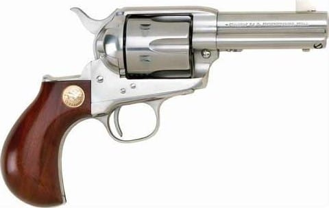 "Cimarron CA4508 Thunderer .38 SPL/.357 PW FS 3.5"" SS Walnut Birdshead Revolver"