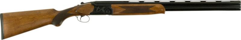 """Dickinson OA26EXT Hunter Light Over/Under 12GA 26"""" 3"""" Wood Stock Black/White Aluminum Alloy Receiver"""