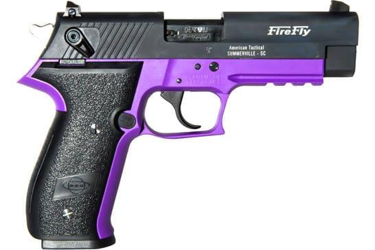 "ATI GERG2210FFL Sport Firefly .22LR 4"" FS 10rd NON-TREADED Purple"