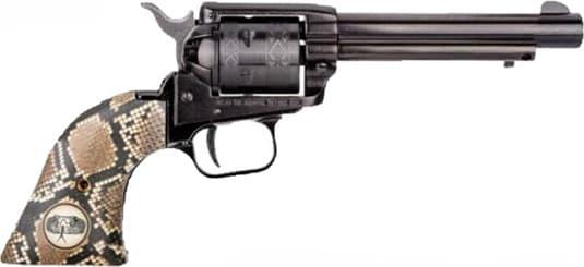 Heritage Arms RR22B4SNK Heritage RR Black 4.75 Snake Grips Revolver