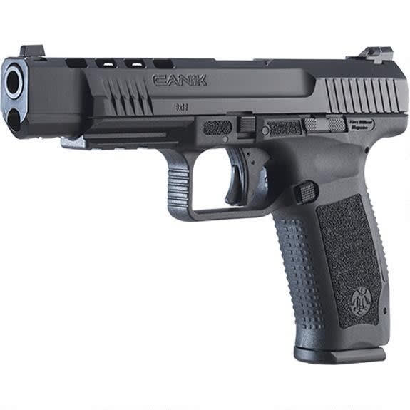 "Canik TP9SFL 9mm Pistol 5.2"" Barrel (2)18 Rd Mags, Hard Case and Warren Sights - HG4073-N"