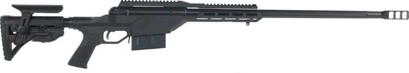 "Savage 22664 110BA Stealth Bolt 300 Winchester Magnum 24"" 5+1 Synthetic/Aluminum Chassis Black Left Hand"
