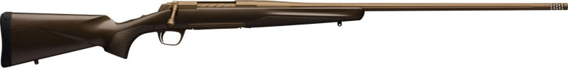 "Browning 035443291 X-Bolt Pro Long Range Bolt 6mm Creedmoor 26"" Heavy Fluted TB 4+1 Carbon Fiber Burnt Bronze Cerakote Stock"