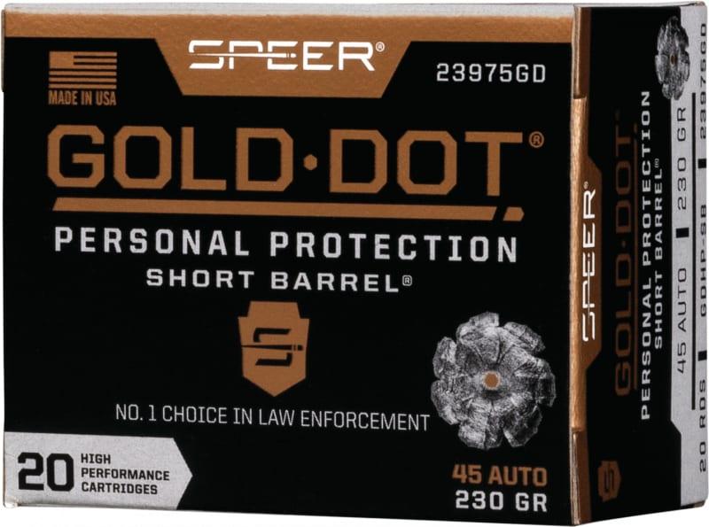 Speer 23975GD Gold Dot 45APC 230 HP SB - 20rd Box