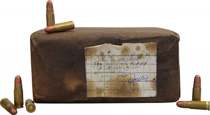 Romanian 7.62x25 Ammunition - 576 rounds, Brass, Berdan, Corrosive, Surefire.