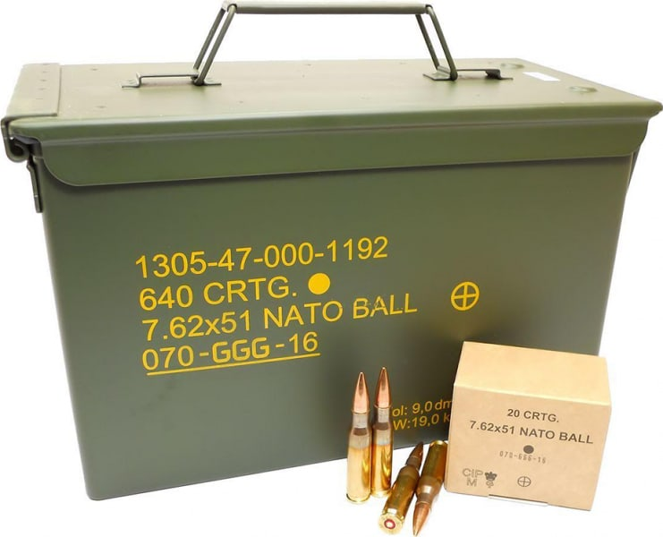 GG+G of Lithuania 7.62x51 NATO 147gr FMJ GP11 Ball Ammo - 640rd Can