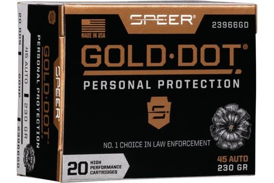 Speer 23966GD Gold Dot 45APC 230 HP - 20rd Box