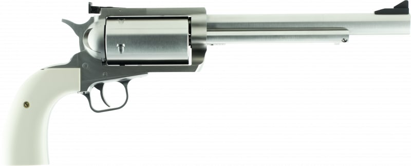 """Magnum Research BFR45LC410B BFR Long Cylinder SS Single 7.5"""" 5 Bisley Black Laminate Stainless Steel Revolver"""