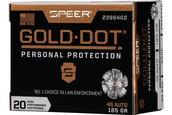 Speer 23964GD Gold Dot 45APC 185 HP - 20rd Box
