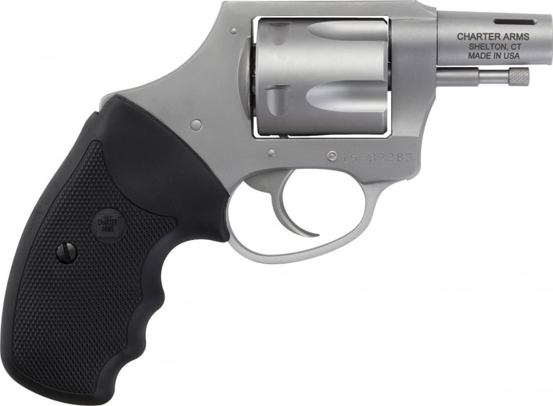 """Charter Arms 74429 Boomer 44 Special Double 44 Special 2"""" 5 Black Rubber Stainless"""