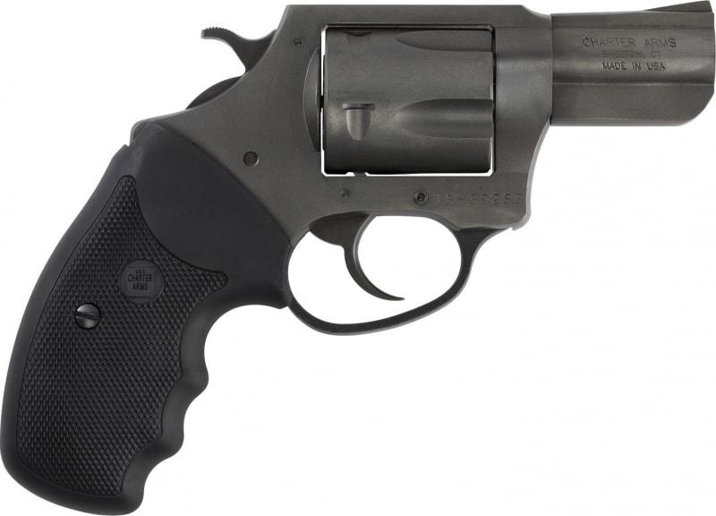 "Charter Arms 64420 Bulldog 44 Special Double 2.5"" 5 Black Rubber Blacknitride+"