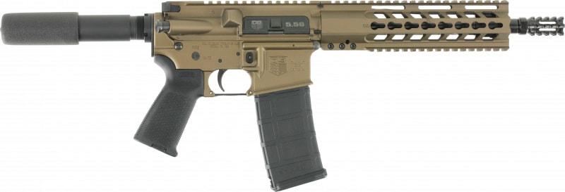 "Diamondback DB15PBB10 DB15 AR Pistol Semi-Auto 10.5"" 30+1 Polymer Burnt Bronze"