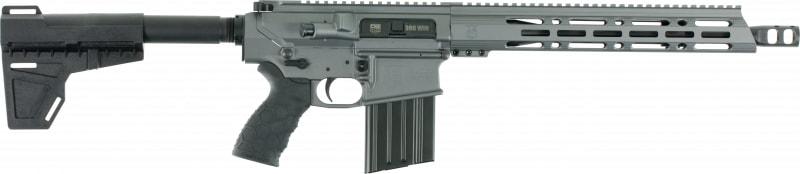 "Diamondback DB10PTG13 DB10 AR Pistol Semi-Auto 13.5"" 20+1 Polymer Gray Receiver/Black Barrel"