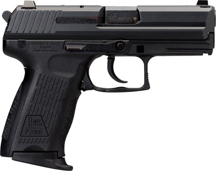 "HK 709202LELA5 P2000 V2 LEM w/3 mags *CA Compliant* Double 9mm 3.6"" 10+1 Black Polymer Grip"