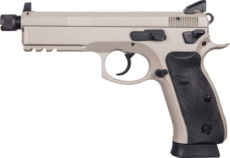 "CZ 91253 SP-01 Tactical DA/SA 9mm 5.2"" 18+1 Black Rubber Grip Gray"