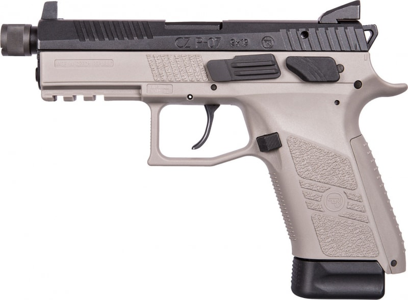 "CZ 91288 P-07 Gray DA/SA 9mm 4.5"" 15+1 Stippled Grip"