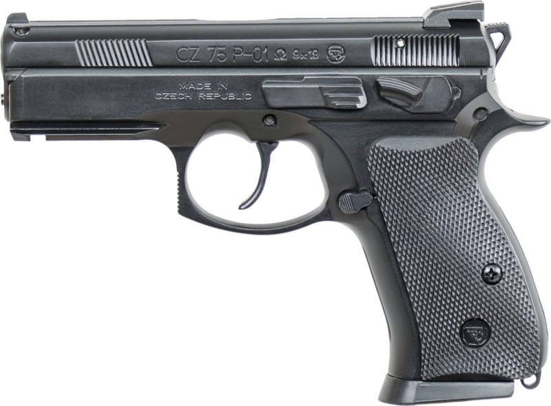 "CZ 91229 P-01 Omega DA/SA 9mm 3.8"" 14+1 Black Rubber Grip"