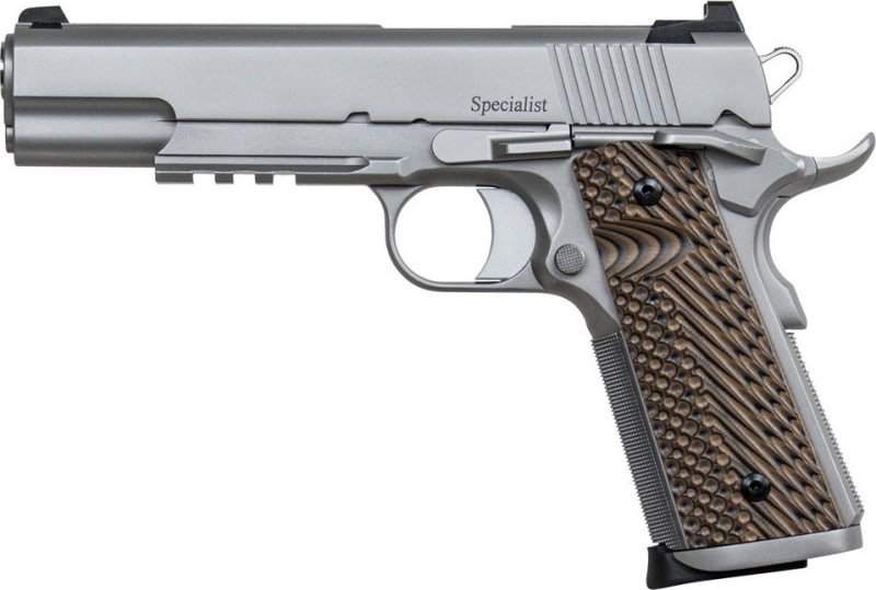 "Dan Wesson 01893 1911 Specialist Single 9mm 5"" 10+1 Brown VZ Operator II G10 Grip Stainless"