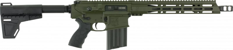 "Diamondback DB10PODG13 DB10 AR Pistol Semi-Auto 13.5"" 20+1 Polymer OD Green Receiver/Black Barrel"