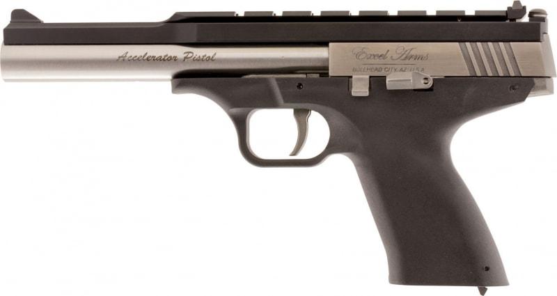 "Excel EA22304 Accelerator Pistol MP-22 Double 22 (WMR) 6.5"" 9+1 Black Polymer Grip"