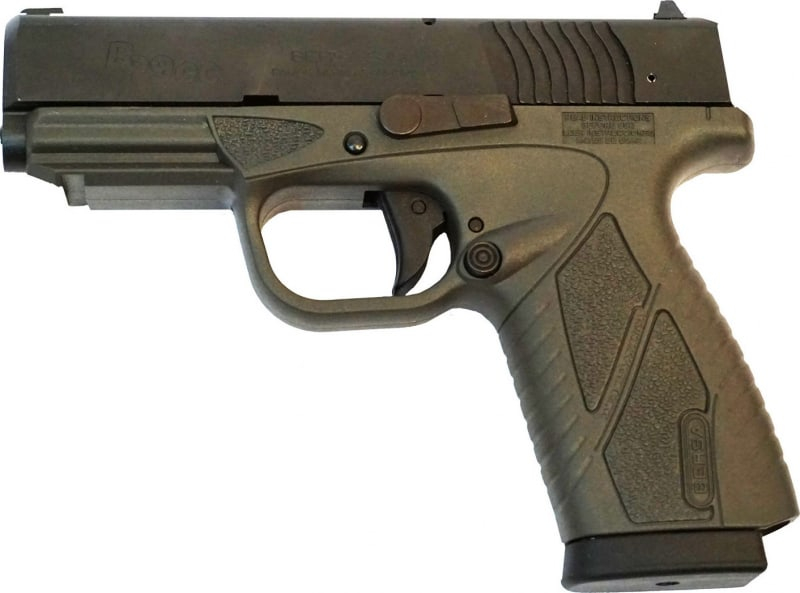 "Bersa BP9GRCC BPCC Concealed Carry Double 9mm Luger 3.3"" 8+1 Gray Polymer Grip/Frame Grip Black"