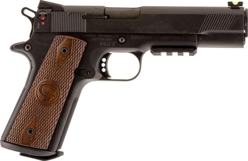 "Chiappa 401.101 1911 22 Custom SA 22LR 5"" 10+1 Walnut Grip Black"