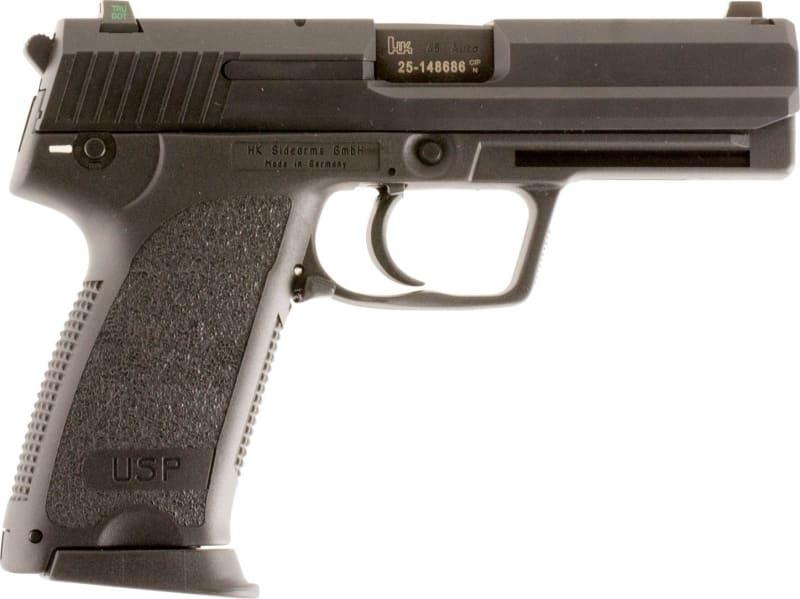 "HK 704501LELA5 USP45 V1 *CA Compliant* DA/SA 45 ACP 4.41"" NS 10+1 3 Mags Black Polymer Grip/Frame Blued"