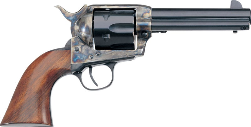 "Taylors and Company 700E 1873 Cattleman Single 357 Magnum 4.75"" 6rd Walnut Blued"