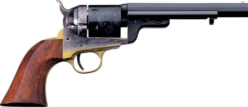 "Taylors and Company 0925 1851 Navy C. Mason Single 38 Special 7.5"" 6rd Walnut Grips Blued"