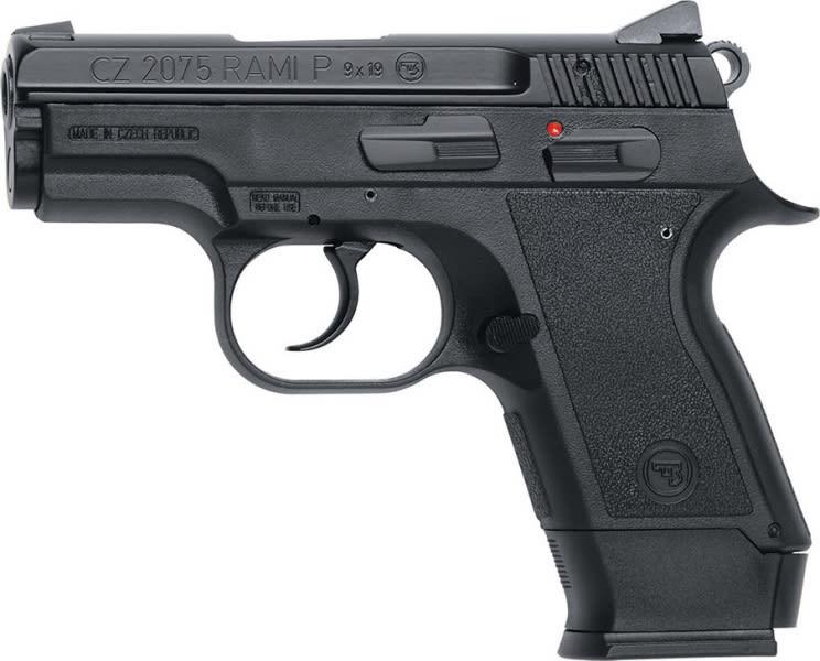 "CZ 01750 CZ-2075 2075 Rami 9mm 3"" 10+1 Black Rubber Grip Matte Black Finish"