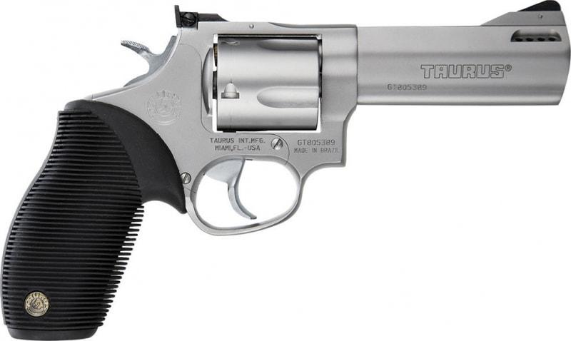 """Taurus 2440049TKR Tracker Model 44 DA/SA 44 Magnum 4"""" 5 Black Ribber Stainless"""