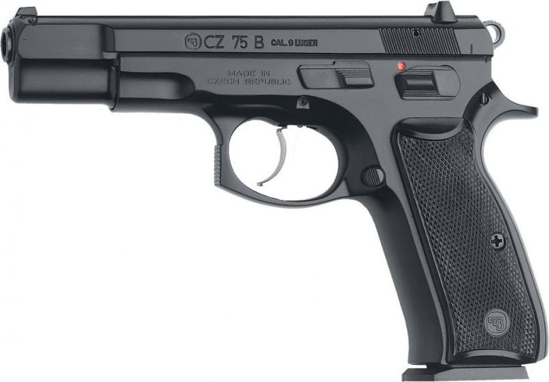 "CZ 91102 CZ 75 75-B DA/SA 9mm Luger 4.6"" 16+1 Black Synthetic Grip Black"