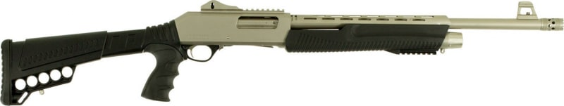 "Dickinson XX3DM2 Defense Pump 12GA 20"" 3"" 5+1 Synthetic Adjustable w/ Pistol Grip Black Silver Marinecote"